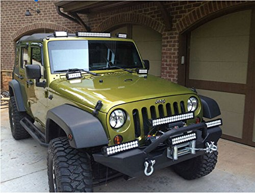 LED Light Bar YITAMOTOR 24 Inch Offroad Spot Flood Combo Led Waterproof Dual Row Work with Wiring Harness for Truck, 4X4, ATV, Boat,